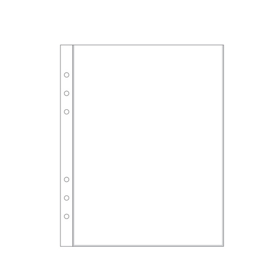 "6x8"" Page Protector 1A (6-ring)"