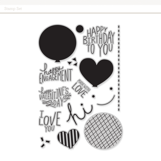 Stamp Set: Balloon by Life.Love.Paper