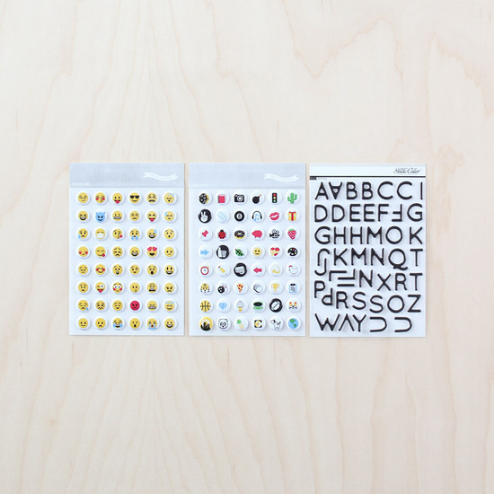 Emoji + Alpha Puffy Sticker Set