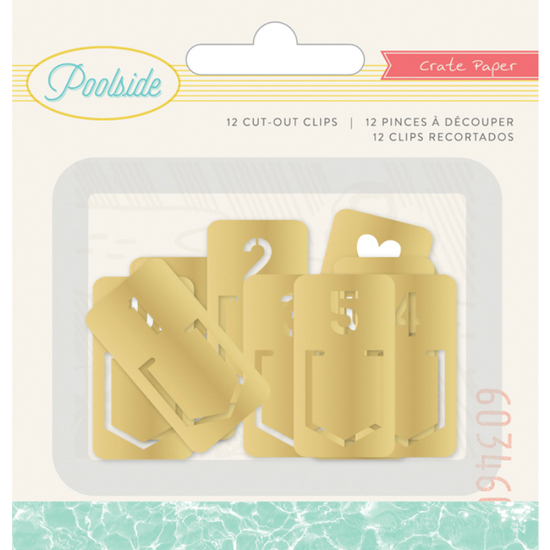 Embellishments - CP - Poolside - Clip Tabs - Gold