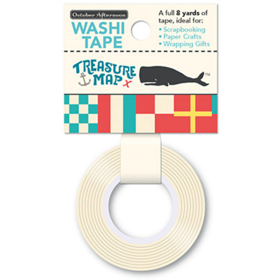 October Afternoon Treasure Map Nautical Flag Washi Tape