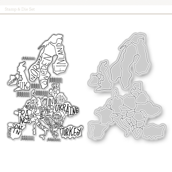 Stamp + Die Set: Europe