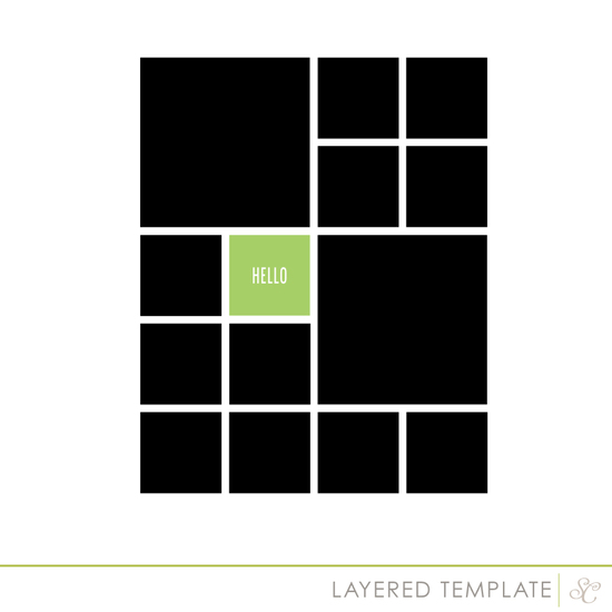 Shop square template