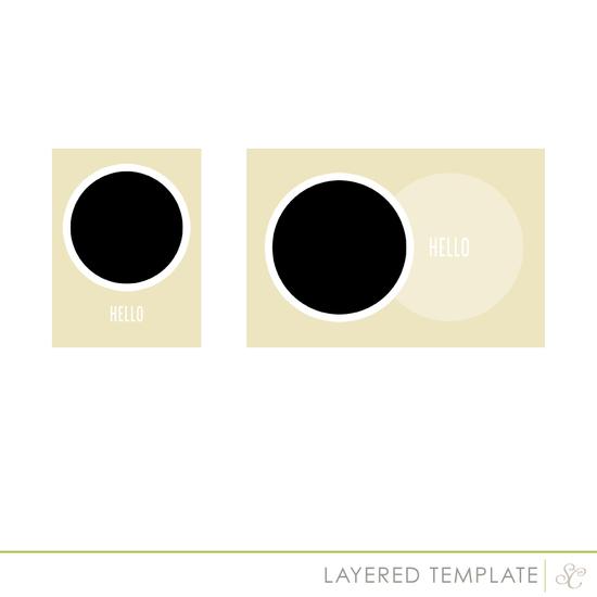 Shop circle template