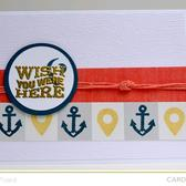 Nautical wish you were here card kit only