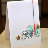 Sending hugs card (card kit   north star add on)