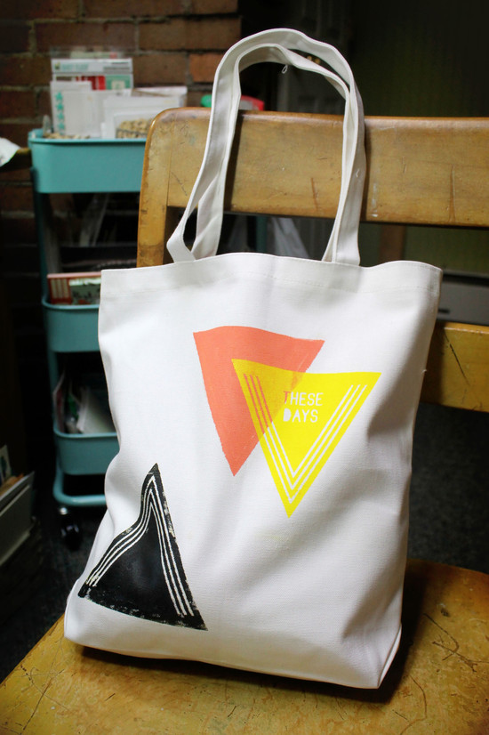 Screen printed bag