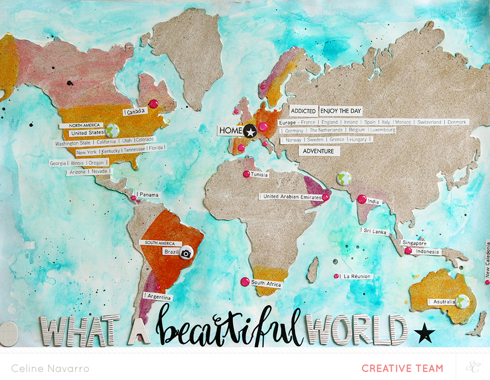 Blog video make a world map collage with the cork studio calico studio calico world map collage gumiabroncs Image collections