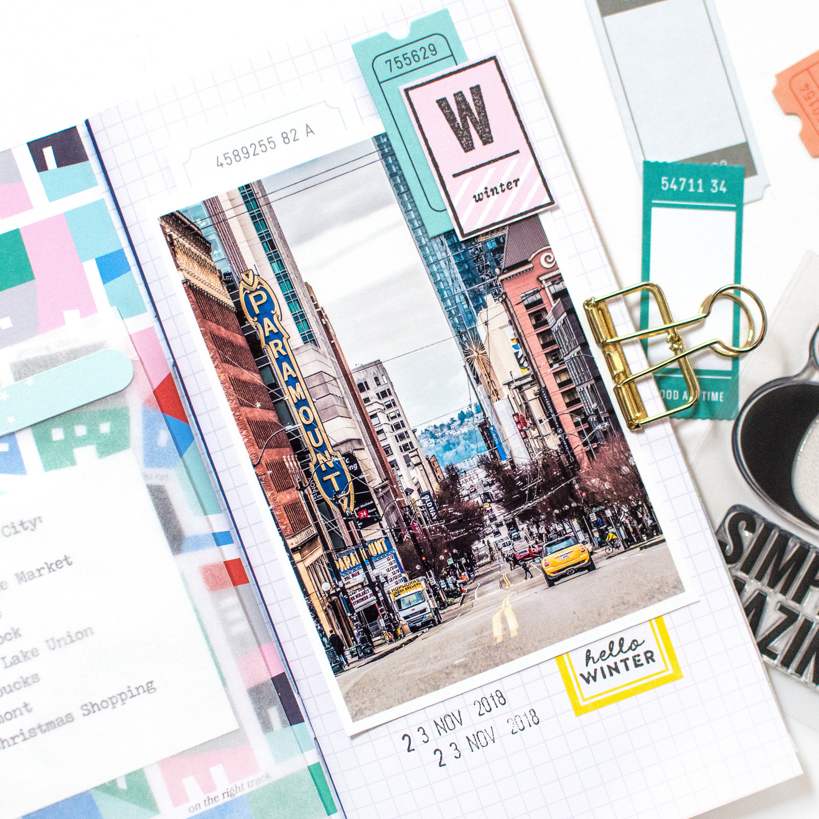 Blog Take A Sneak Peek At Decembers Kits Studio Calico Electronics Projects For Dummies Peak Catch Of The City Sidewalks Tn Kit On Maries Fun Project That Patterned Page Is Perfect Match Her Photo