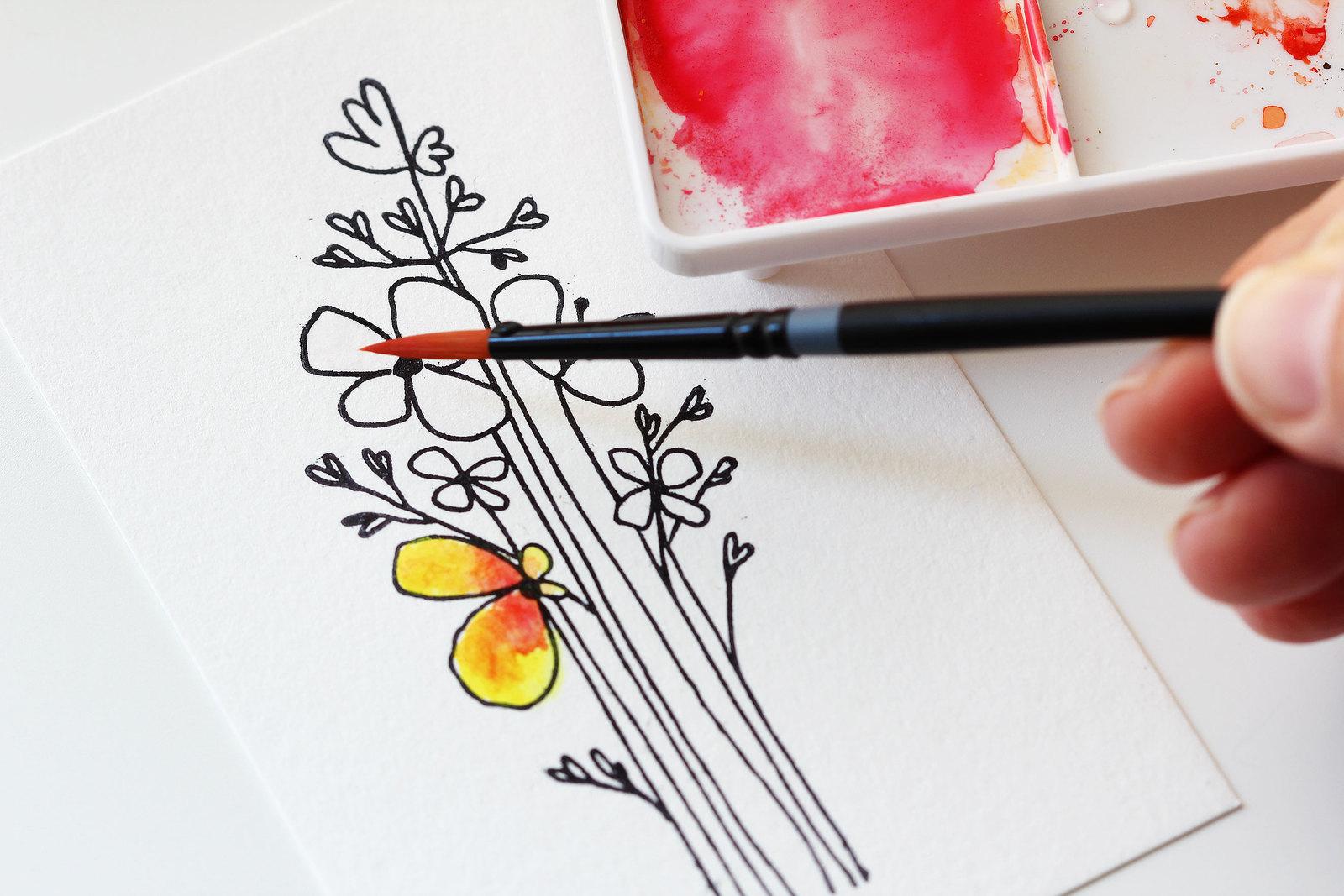 Blog: Tutorial: Creating a Watercolor Flower Card - Studio ...
