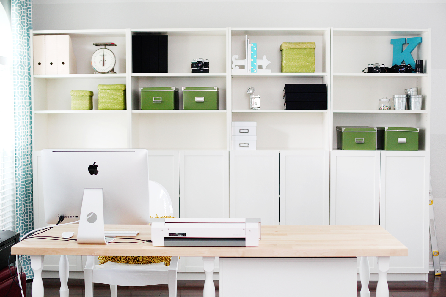 The Majority Of My Furniture Came From Ikea I M A Fan Billy Bookcase System And It Worked Perfectly To Create Wall Closed Open Storage
