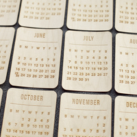 Picture of Wood Veneer Calendar Cards