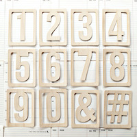 Picture of Wood Veneer Numbers Set