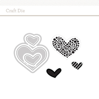 Picture of Craft Die: Wonky Hearts