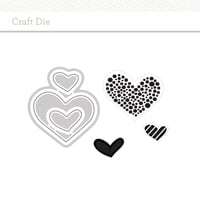 Craft die wonky hearts