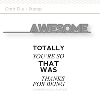 Picture of Totally Awesome Craft Die + Stamp Set