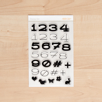 Picture of Charlotte Numbers Alpha Stamp Set