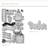 Picture of Teachers Pet Stamp and Die Set