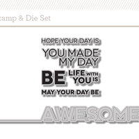 Picture of Be Awesome Stamp + Die Set