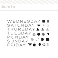 Picture of Days of the Week Stamp Set