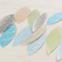 Picture of Colored Vellum Leaves