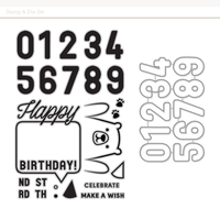 0052823 birthday sentiment stamp die