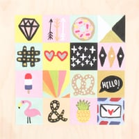 Picture of Square Painted Icons Card Set by Katie Thierjung