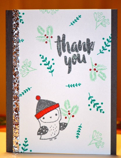 Owl thank you card original
