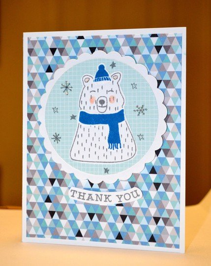 Polar bear thank you card original