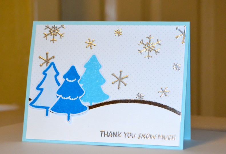 Thank you snow much tree card original