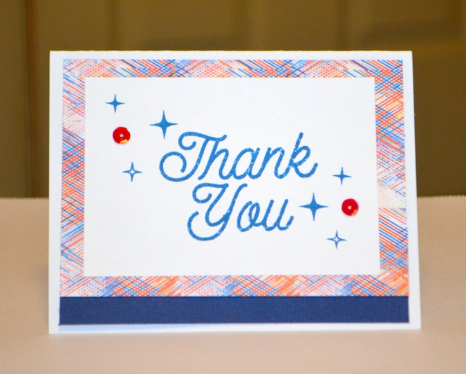 Rwb layered thank you card original
