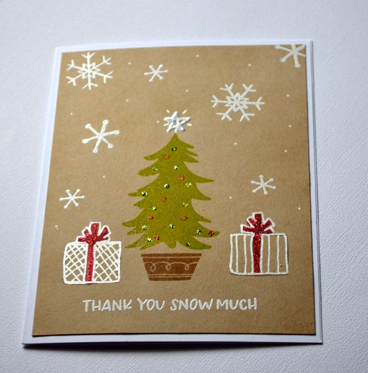 Snowflake christmas thank you card original