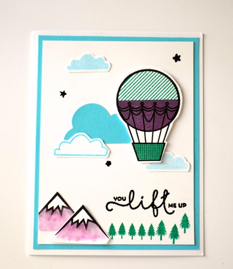 You lift me up hot air balloon card original