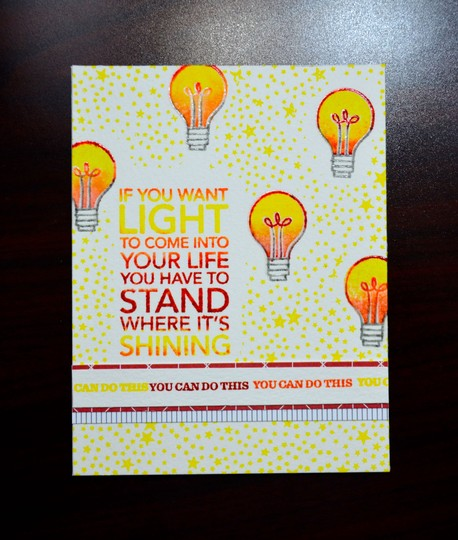 Shining encouragement card original