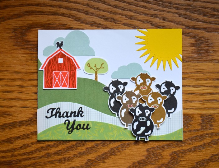 Whole herd thank you card original