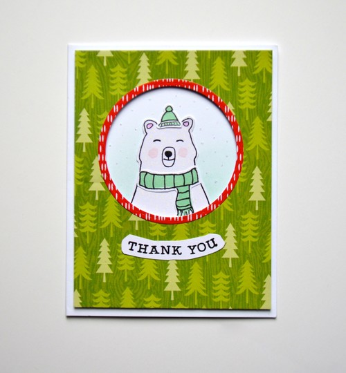 Thank you polar bear card original
