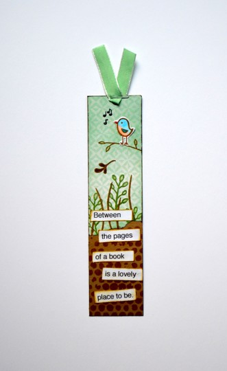 Bird bookmark original