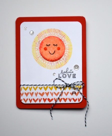 Radiate love card original