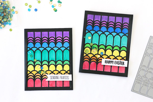 Stained glass window cards by natalie elphinstone 1 original