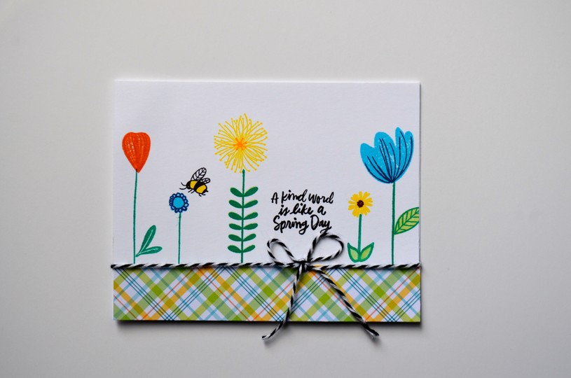 A kind word is like a spring day card original