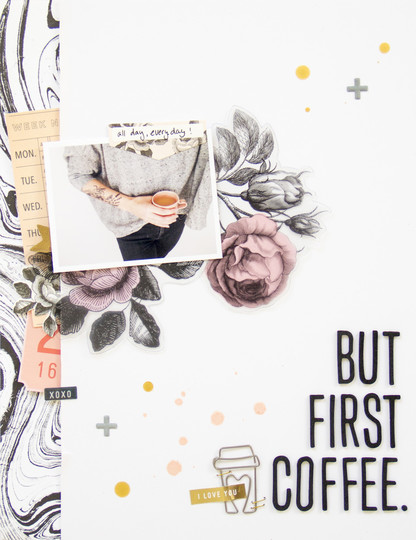 Firstcoffee scatteredconfetti scrapbooking layout maggieholmes cratepaper 1 original