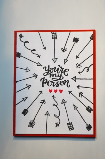 Youre my person bullseye card original