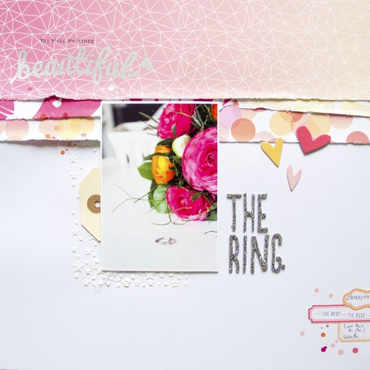 Thering scatteredconfetti scrapbooking layout websterspages americancrafts mixedmedia 1 original
