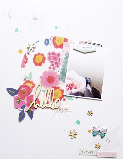 Hello scatteredconfetti scrapbooking layout cratepaper americancrafts maggieholmes 1 original