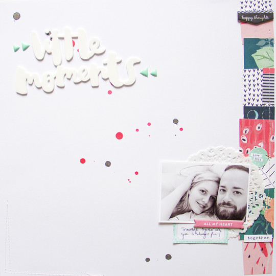 Littlemoments scatteredconfetti scrapbooking layout americancrafts amytangerine studiocalico cratepaper 1 original