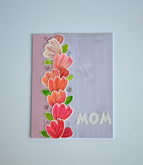 Floral mom card original