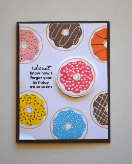 Donut forgot birthday card original