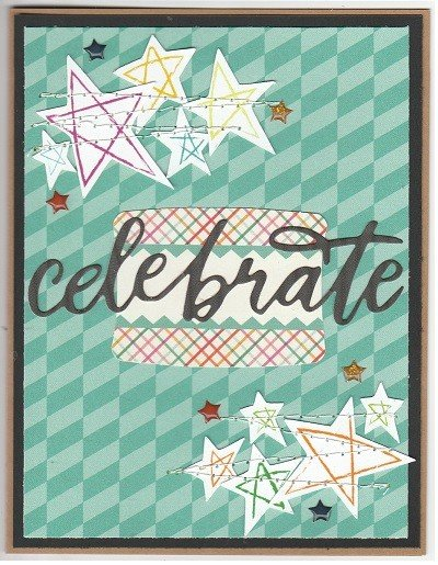 Celebrate hand drawn stars original