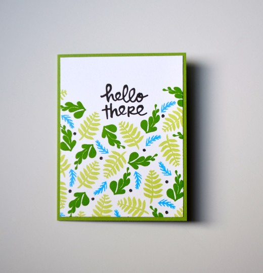 Hello there greenery card original