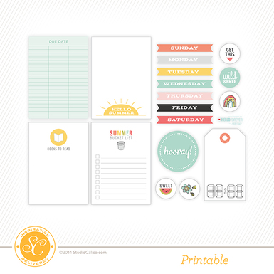 image about Printable Perpetual Calendars called Savannah Perpetual Calendar Printable - Studio Calico